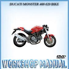 DUCATI MONSTER 400 620 BIKE WORKSHOP REPAIR SERVICE MANUAL IN DISC