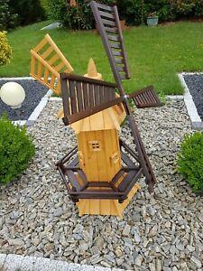 Windmühle Windmühlen Garten Kugelgelagert 120 cm Groß NEU