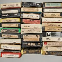 8 Track Tapes Lot Of 31 Artist In Description