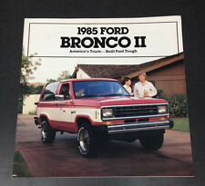 1985 Ford Bronco II 2 Dealer Brochure XLT 4x4 Original Tough