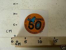 STICKER,DECAL OPEL 50 JAAR DELEERSNYDER LEDEBERG 1925-1975