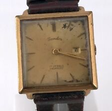 SANDOZ Cal. F4025 vintage watch hand manual winding no funciona 27,5 mm 3WC