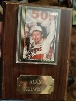 NASCAR Alan Kulwicki card on Protected Cover on Wooden Plaque FREE SHIPPING