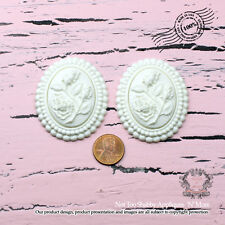 "Shabby Chic Furniture Appliques ""Floral Cameo (Set of 2)"""