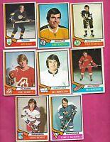 1974-75 OPC NHL PLAYERS  CARD LOT (INV# C2247)