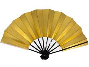Vintage Japanese Geisha Odori 'Maiogi' FoldingDanceFan Gold & Silver: May20-L