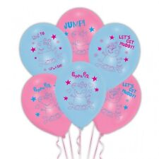 6 x Peppa Pig Latex Balloons Ideal Birthday Party Decoration