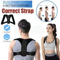 Men Women Adjustable Posture Corrector Back Shoulder Support Correct Brace Belt
