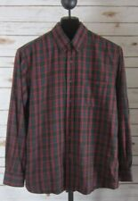 Pendleton Mens Large Red Plaid Canterbury Cloth Durable LS Cotton Wool Shirt