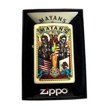 Zippo Custom Lighter Cream Matte Mayans MC FX Television Motorcycle Santa Muerte