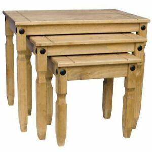 Vida Designs 333334.vida Pine Wood Tables - 3 Pieces