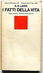 Ronald Laing I fatti della vita Einaudi Nuovo Politecnico 1980 Psicoanalisi