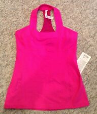 NWT $48 Lululemon SCOOP NECK Tank BRIGHT PINK Size 12