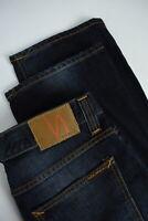 NUDIE JEANS Men's W34/L32 Organic Faded Dark Blue Straight Fit Jeans 3468_mm