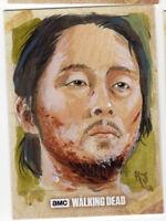 Topps The Walking Dead Season 6 Sketch Card Jimenez Glenn Original Art 1/1
