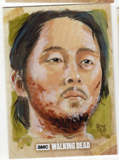 Topps The Walking Dead Season 6 Sketch Card Jimenez Glenn Original Art 1/1