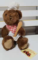 TEDDY BEAR COLLECTION PLUSH TOY ABOUT 24CM SEATED! CLEMENT CHEF KIDS SOFT TOY!