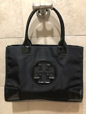 Tory Burch Ella Nylon Mini Logo Tote Bag Black Purse