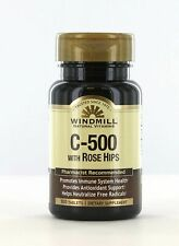 Windmill Natural Vitamins C-500 with Rose Hips - 100 Tabs