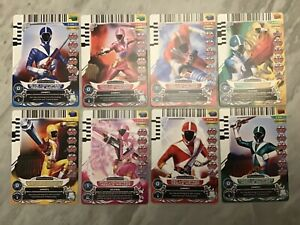 Power Rangers Action Card Game Lot of 8 Lightspeed Rescue Cards Very Rare !