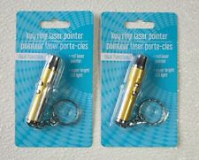 2 Key Ring Red Laser Pointers Bright Led Factory Sealed