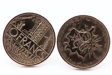 """Boutons de manchettes Pièce de Monnaie Authentique """" France """" 10 francs Mathieu"""