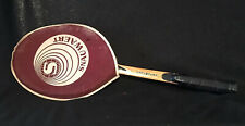 Vintage madera raqueta de tenis Snauwaert Mustang con edad funda