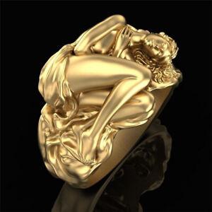 Ring For Men Women Gold Wedding Engagement Valentine Day Gift Couple Love