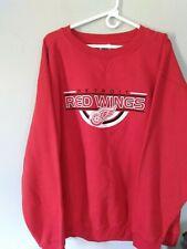 New NHL Detroit Red Wings Hockey Sweatshirt Fleece Pullover Red Men's Women's XL