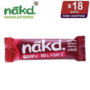 18 x Nakd Berry Delight Bars 35g