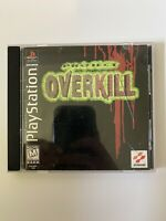 Project Overkill (Sony Playstation 1 ps1) Complete W/ Manual TESTED Black Label