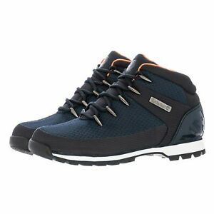 Timberland A1QKA Euro Sprint Mens Canvas Hikers Hiking Boots Shoes Navy TBL Size