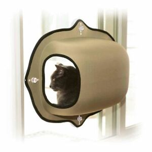 """K&H Pet Products EZ Mount Window Pod Kitty Sill Tan 27"""" x 20"""" x 20"""""""