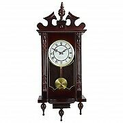 Bedford Classic 31 Chiming Wall Clock Roman Numerals Pendulum Cherry Oak Finish