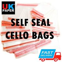 Clear Cello Display Bags Self Seal For Cards Prints Party Sweet Candy Cellophane