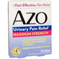 AZO URINARY PAIN RELIEF MAXIMUM STRENGTH FAST EFFECT DISCOMFORT 24 TABLETS