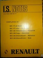 1985 Renault I.S. Service Bulletins Manual Original