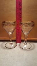 collectible gold rim goblets