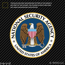 National Security Agency NSA Sticker Decal Self Adhesive Vinyl covert