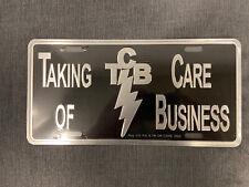 Elvis Presley Metal License Plate TCB Taking Care of Business The King Metal