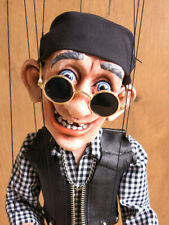 BIKER PUPPET / MARIONETTE 17 in. - unique handmade from CZECH rep.