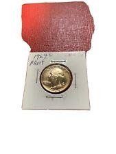 1969 S Washington Quarter Proof Gem BU