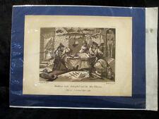 Antique Hogarth aquatinte Circ 1799 S Sancho & son gouvernement satire CARICATURE