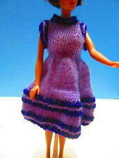 Homemade Vintage Barbie Purple/Lavender Knitted Dress