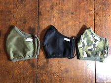 Van Laack Masken Mund Nasenbedeckung 3 Stück Camouflage grün schwarz Baumwolle