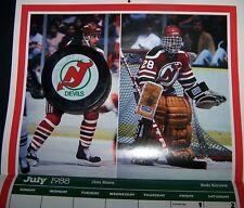 Bob Sauve New Jersey Devils NHL Signed 1988 Hockey Puck-Buffalo- Vezina Trophy-+