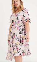 BNWT Studio 8 Phase Eight Calie Floral Asymmetric Dress UK 26 RRP £120