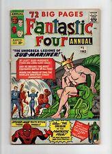 Fantastic Four Annual #1 VINTAGE Marvel Comic KEY 1st Silver Age Atlantis 25c