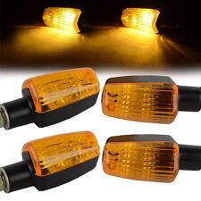 4pcs New Mini Universal Motorcycle Turn Signal Indicator Light Lamp Bulb Black