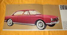 BMW 3200 CS Original 1961 Prospekt Brochure Catalogue Depliant Prospetto Bertone